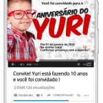 Convite Especial Festa Youtube Preenchido Celular