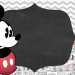 Convite Festa Infantil Mickey Vintage