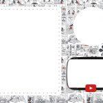 Convite Festa Youtube para imprimir