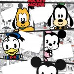 Convite Gibi Mickey Baby Vintage