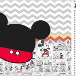 Convite Ingresso Mickey Baby Vintage