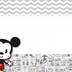 Convite Mickey Baby Vintage