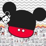 Convite Mickey Baby Vintage 3