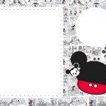 Convite Mickey Baby Vintage 4