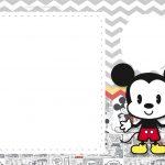 Convite Mickey Baby Vintage 7