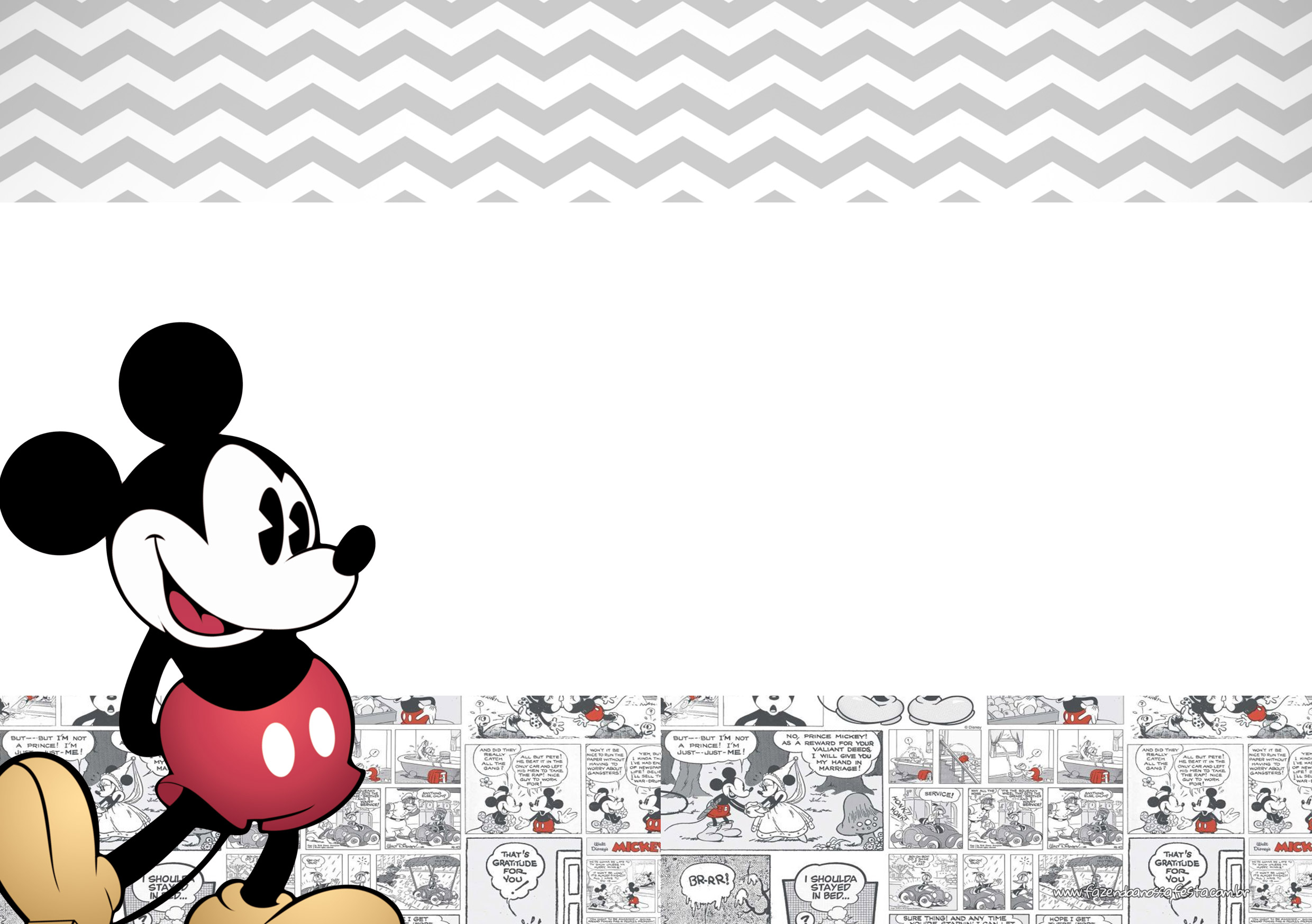 Convite Mickey Mouse Vintage 2