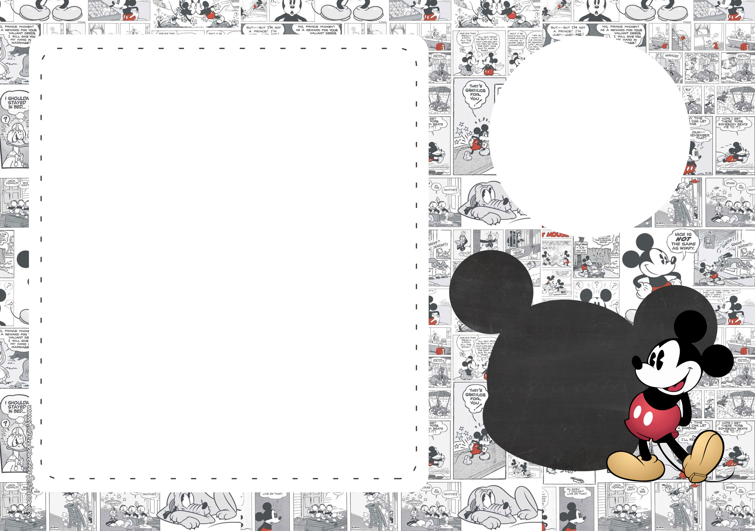 Convite Mickey Mouse Vintage 3