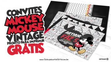 Convite Mickey Mouse Vintage