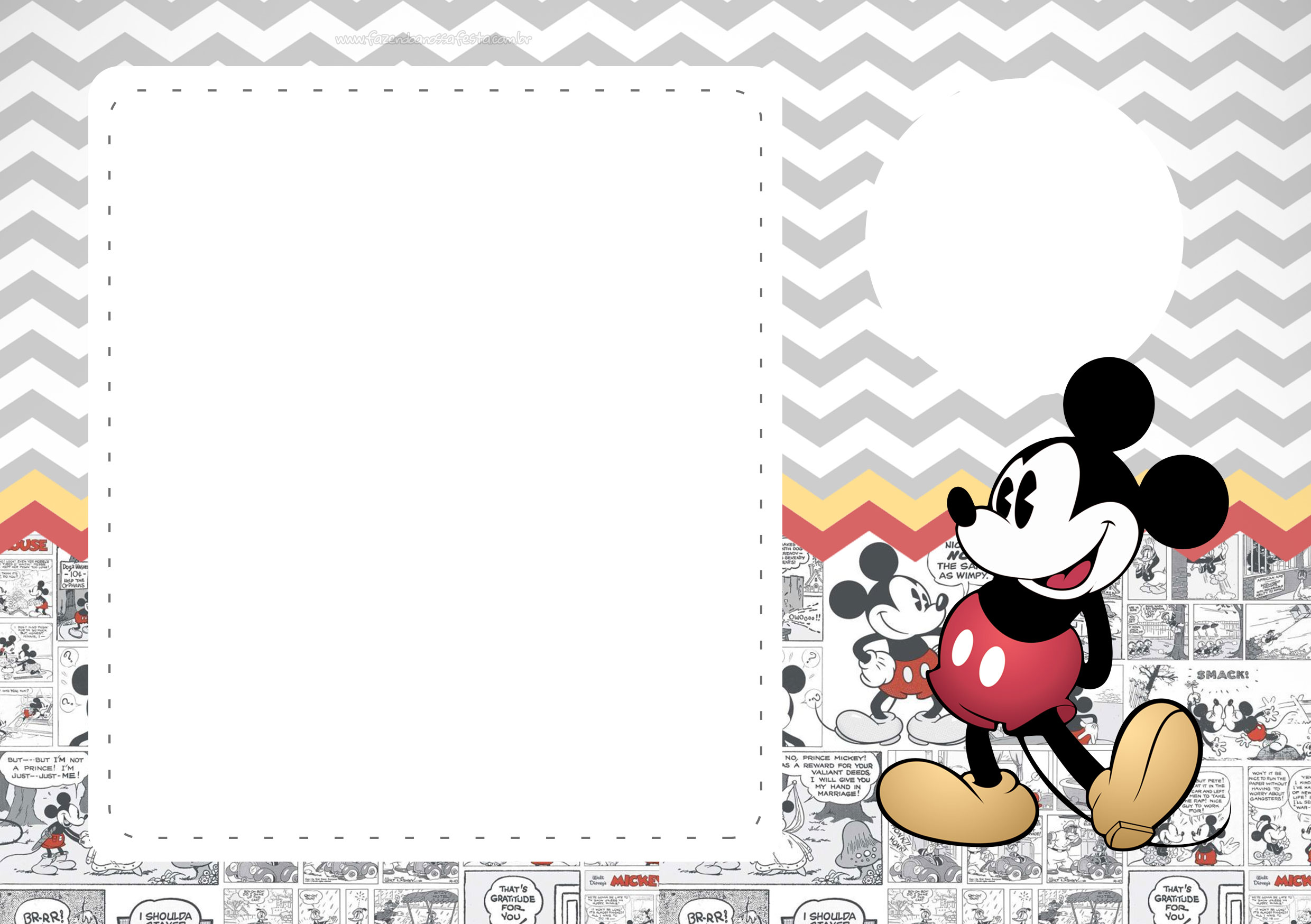 Convite Mickey Mouse Vintage 4