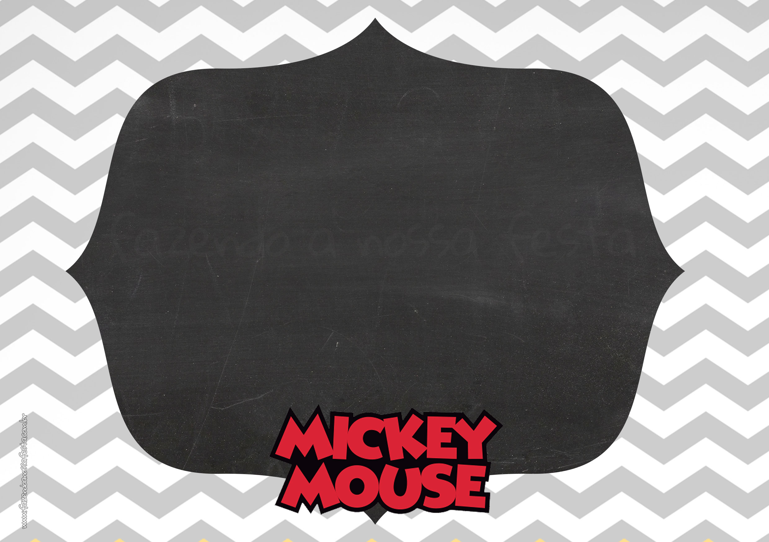 Convite Mickey Mouse Vintage 7