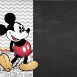 Convite Mickey Vintage