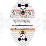 Convite Vestido 83 Mickey Baby Vintage