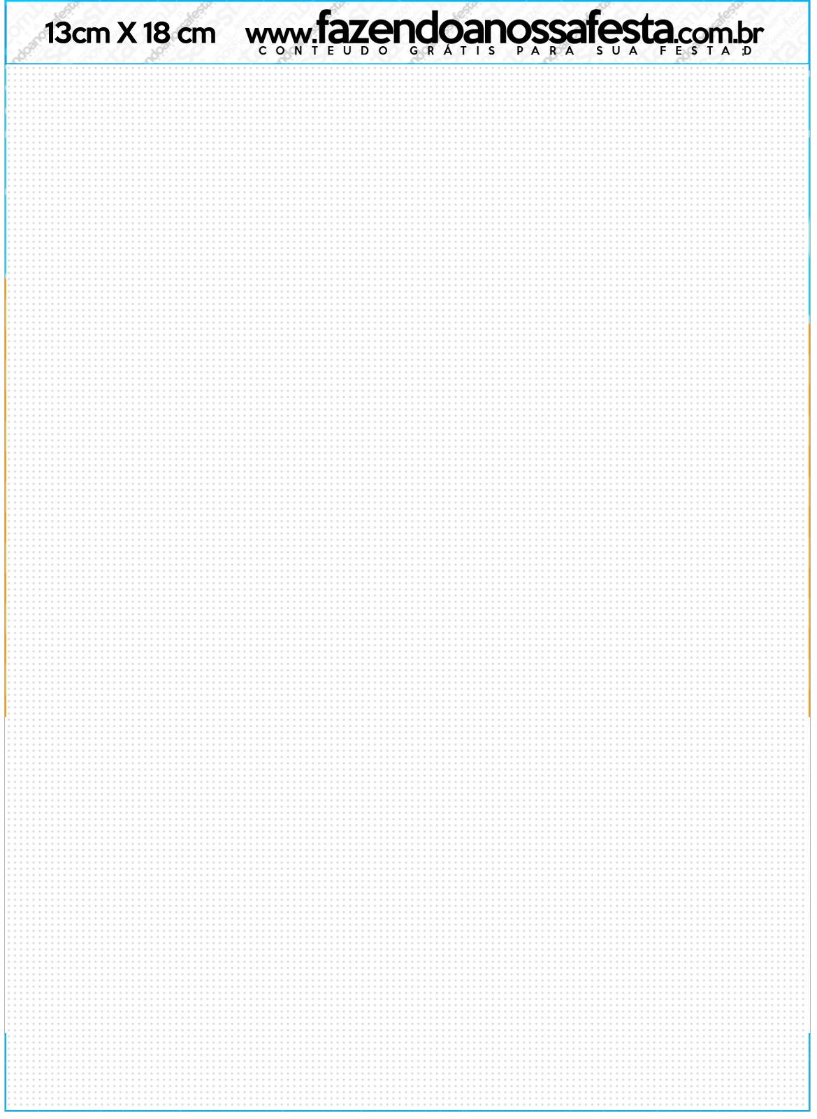 Convite com Envelope Pipa Laranja e Azul