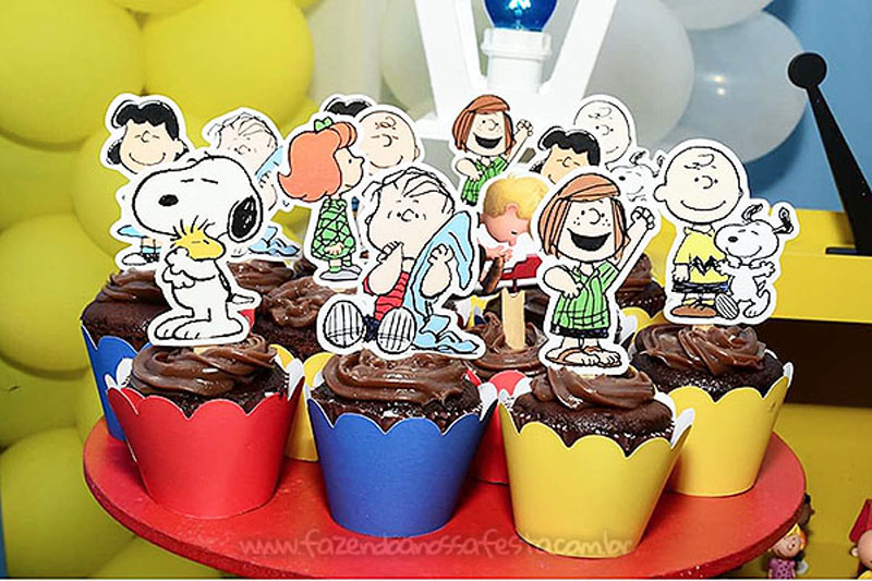 Cupcakes Festa Infantil Snoopy do Vini