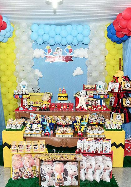 Decoração Festa Snoopy do Vini