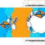 Envelope CD DVD Pipa Laranja e Azul