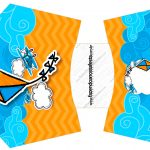 Envelope Fritas Pipa Laranja e Azul