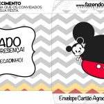 Envelope do Cartao Agradecimento Mickey Baby Vintage