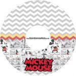 Etiqueta CD DVD Mickey Baby Vintage