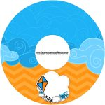Etiqueta CD DVD Pipa Laranja e Azul