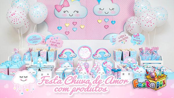 Festa Chuva de Amor com Produtos FestaBox