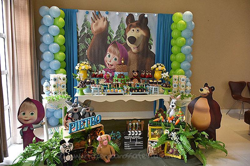 Festa Infantil Masha e o Urso 6