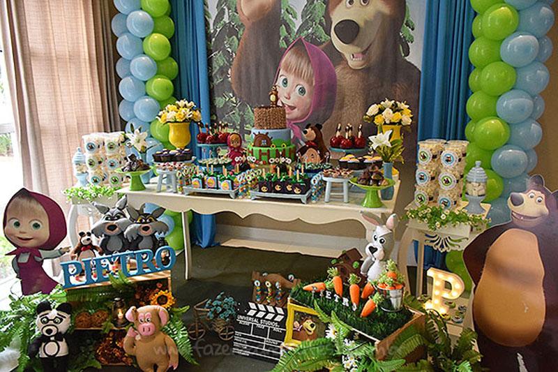 Festa Infantil Masha e o Urso 7