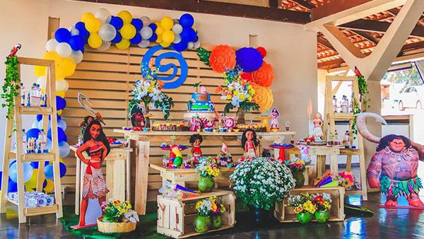 Festa Moana da Sofia Inspiração