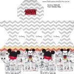 Meia Caixa Bala Mickey Baby Vintage Kit Festa
