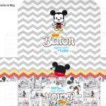 Molde Caixa Baton Mickey Baby Vintage