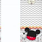 Molde Menu Mickey Baby Vintage