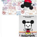 Molde Passaporte Mickey Baby Vintage Kit festa