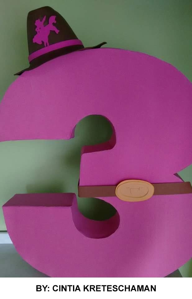 Numeros com Caixa de leite numero 3