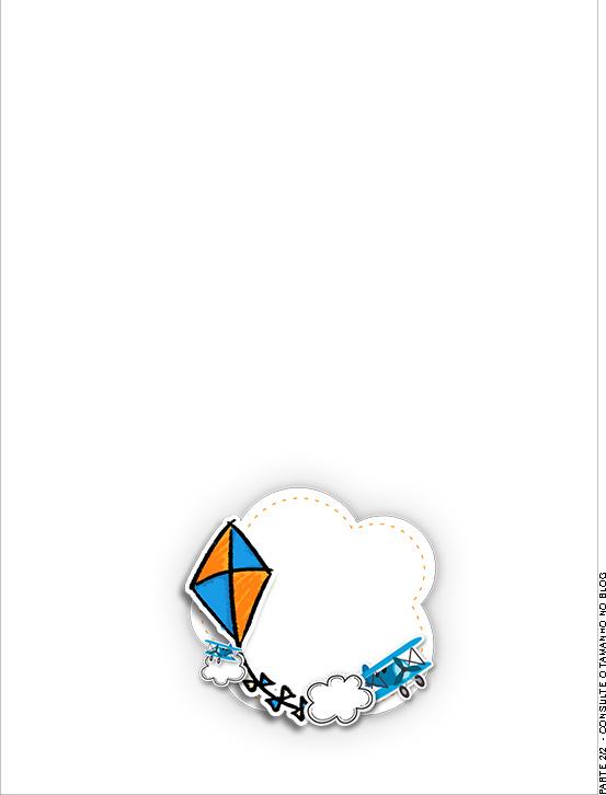 Passaporte Interno Pipa Laranja e Azul Kit Festa