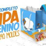 Pipa Laranja e Azul Kit Festa Grátis para Imprimir em Casa