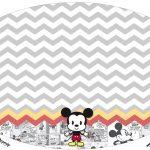 Placa Elipse Mickey Baby Vintage