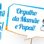 Plaquinha Pipa Laranja e Azul Grátis para Baixar e Imprimir