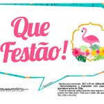 Plaquinhas divertidas Flamingo 7