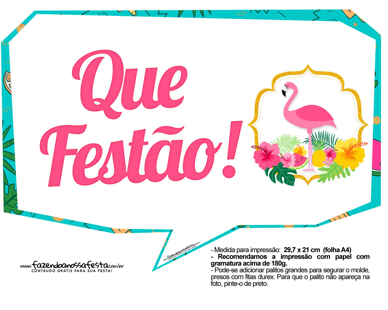 Plaquinhas divertidas Flamingo 7