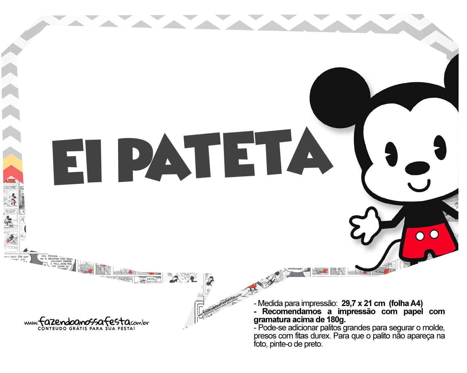 Plaquinhas Mickey Baby Vintage 2