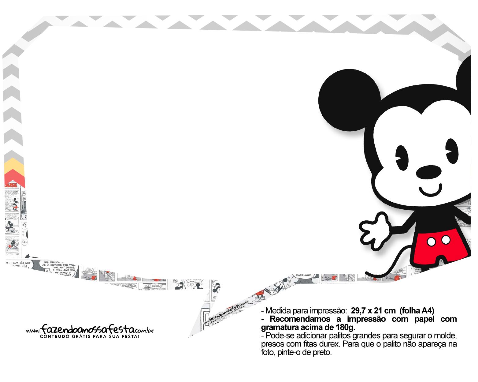 Plaquinhas Mickey Baby Vintage 4