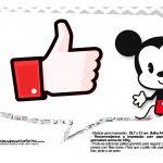Plaquinhas Mickey Baby Vintage 9