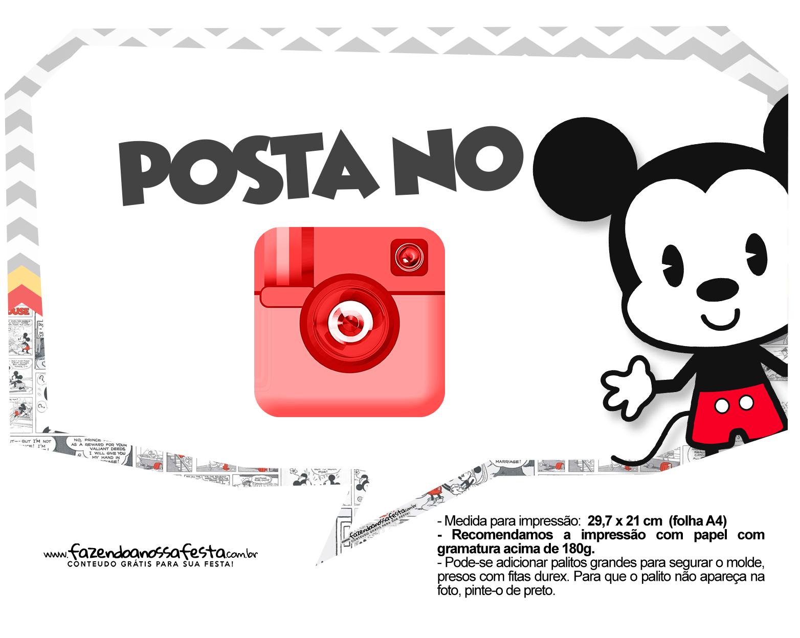 Plaquinhas divertidas Mickey Baby Vintage 10