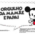 Plaquinhas divertidas Mickey Baby Vintage 11