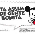 Plaquinhas divertidas Mickey Baby Vintage 16