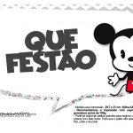 Plaquinhas divertidas Mickey Baby Vintage 17