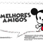 Plaquinhas divertidas Mickey Baby Vintage 26