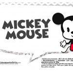 Plaquinhas divertidas Mickey Baby Vintage 28
