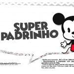 Plaquinhas divertidas Mickey Baby Vintage 30