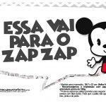Plaquinhas divertidas Mickey Baby Vintage 32